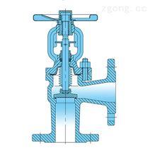 角式波纹管截止阀-铸钢