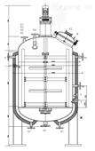 300L带夹套不锈钢均质搅拌反应釜