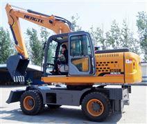 大型挖掘機-HT155W全液壓輪胎式