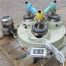 玛瑙料钵选矿实验室三头研磨机 小型制样机