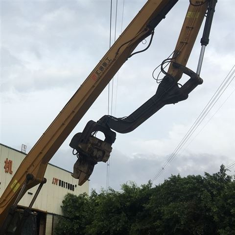 工程机械挖掘机打桩臂、液压打桩机放心省心