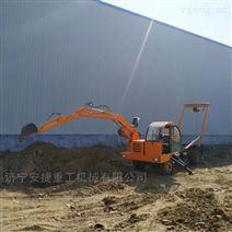 新型轮式龙门吊挖一体机 农村下葬用